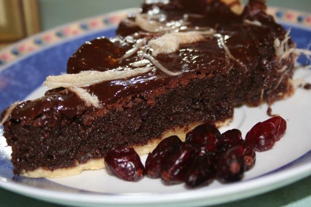 פאי שוקולד וחמוציות. צילום: נועה סטרלינג