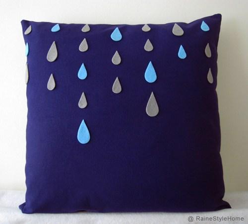 raindrop pillow