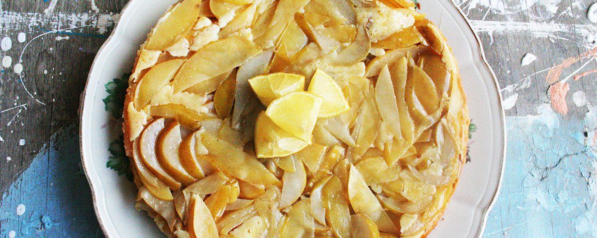 עוגת יוגורט מנטה תפוחים