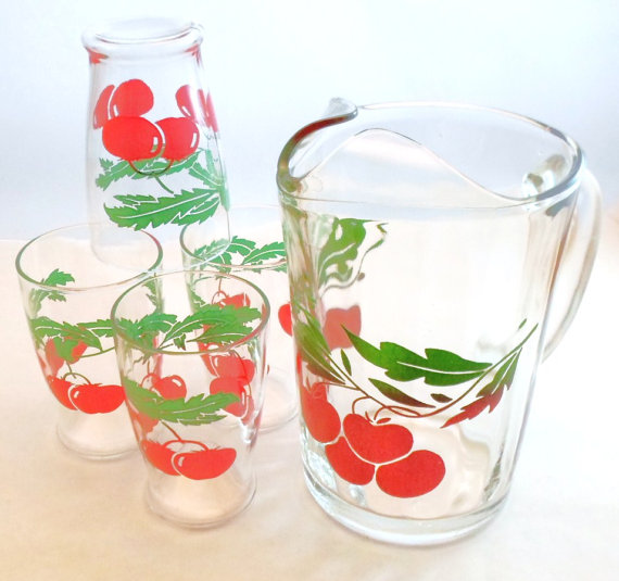 cherries mugs
