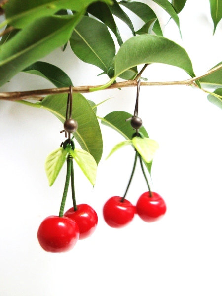 cherry earings