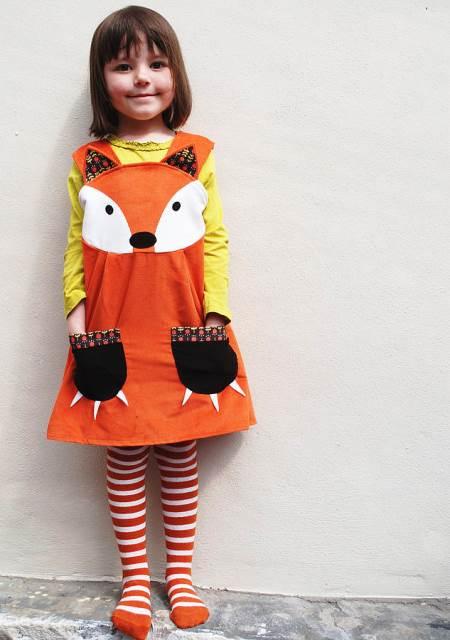 original_girls-dress-handmade-fox-costume