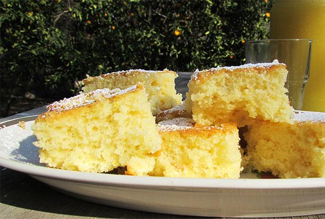 עוגת תפוזים ומרציפן