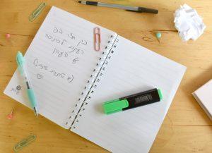 רעיונות לכתיבה הדרכה