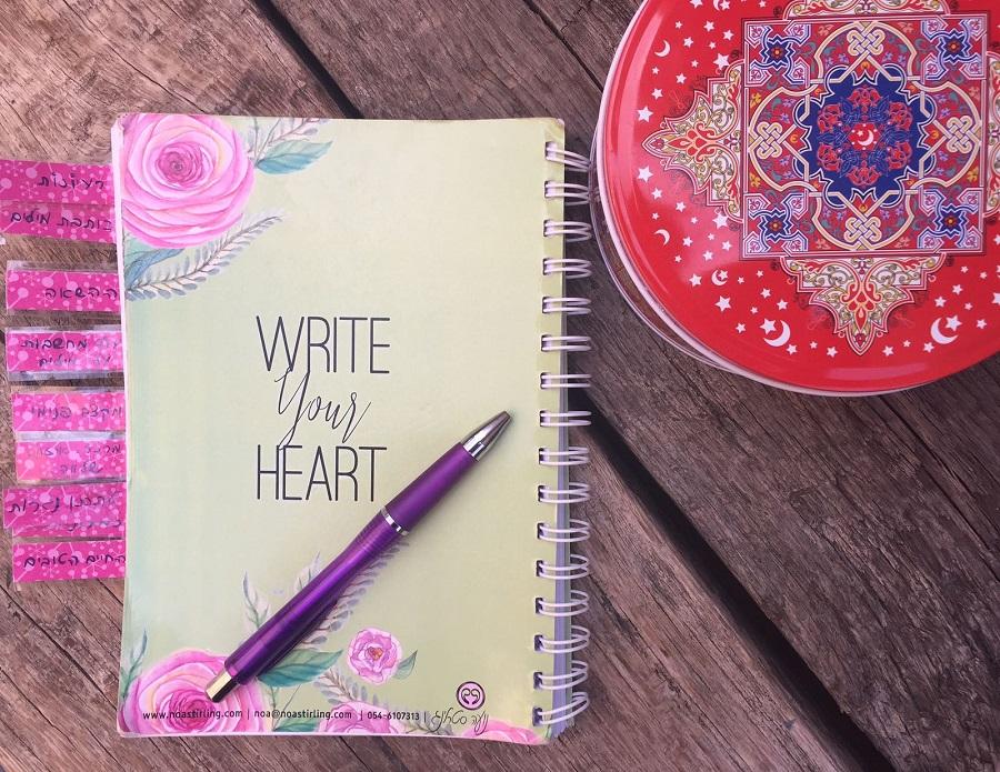 מחברת רעיונות לכתיבה של מירב